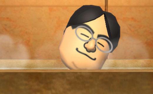 Nintendo big boss man Satoru Iwata in a bathtub?  Why not?