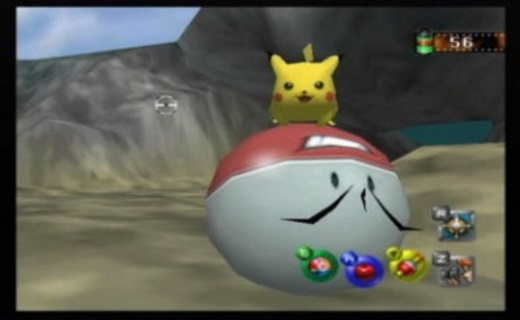 Yep, that's a Pikachu riding an Electrode. What of it?