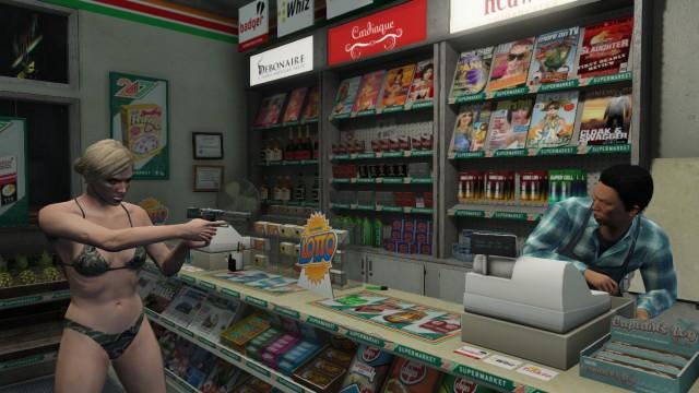 Rob store