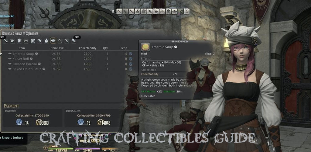 Crafting Collectibles Ffxiv