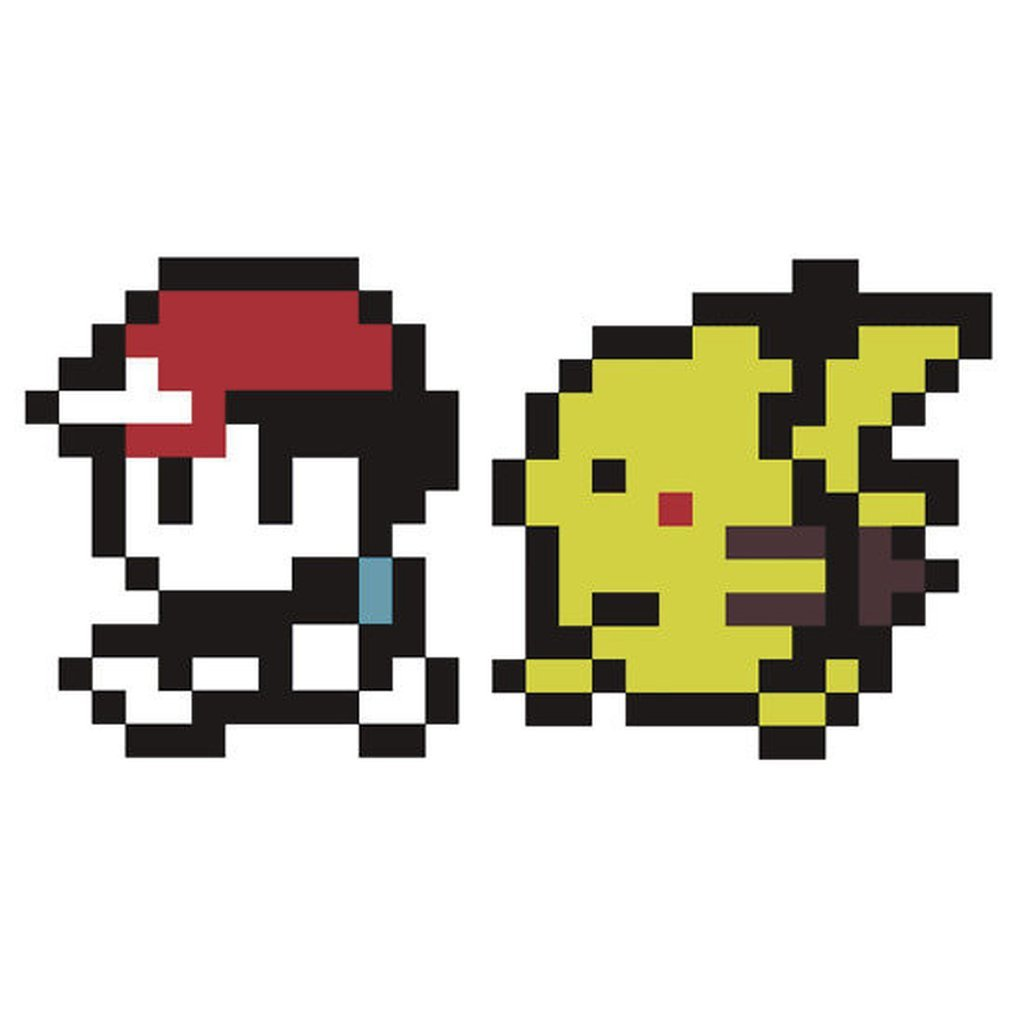 8 bit pokeball grid