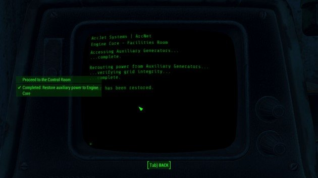 Fallout 4 - Call to Arms - Restore Auxiliary Power