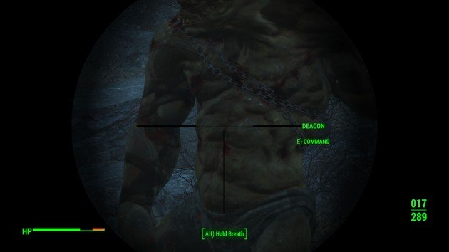Fallout 4 - How to Easily Kill Behemoths - Aim at Chest