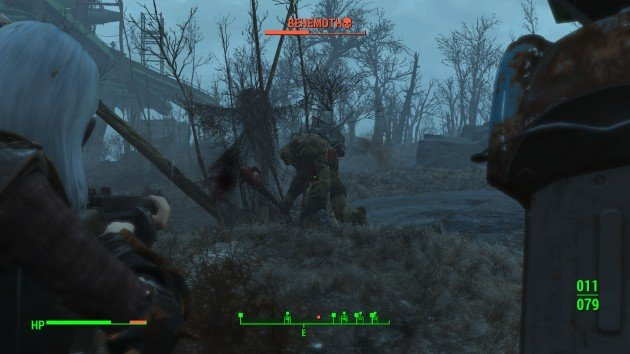 Fallout 4 - How to Easily Kill Behemoths - Bug Him Out