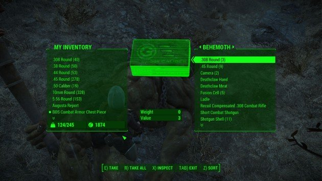 Fallout 4 - How to Easily Kill Behemoths - Loot