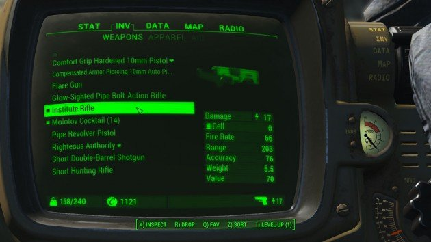 Fallout 4 - Kill the Feral Ghoul Stalker - Institute Rifle