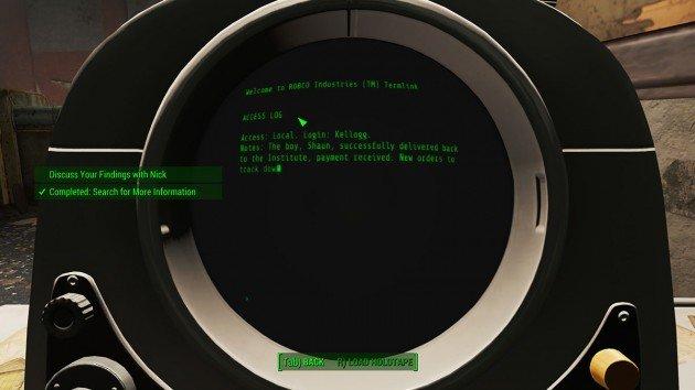 Fallout 4 - Reunions - Acessing Kellogg's Computer