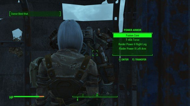 Fallout 4 - Romance Paladin Danse - Entering and Leaving Power Armor