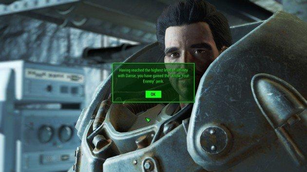 Fallout 4 - Romance Paladin Danse - Know Your Enemy Perk