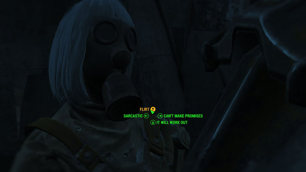 Fallout 4 - Romance Paladin Danse - Talking to Danse