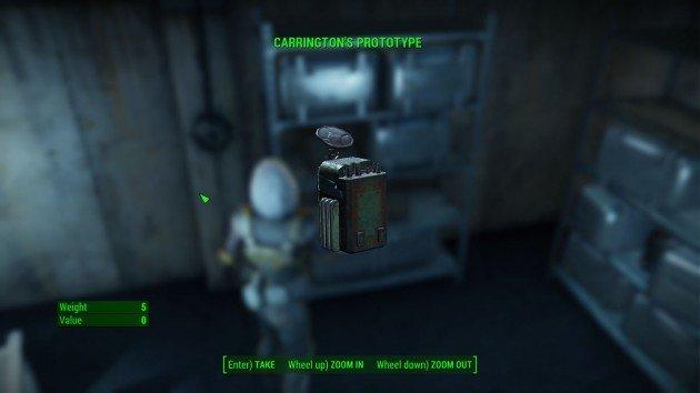Fallout 4 - Tradecraft - Pick the Carrington's Prototype