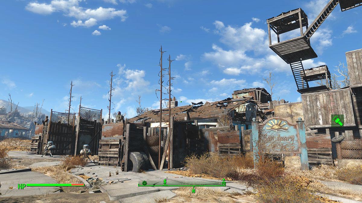 Fallout 4 - Unstuck Settlement - Sanctuary Hills