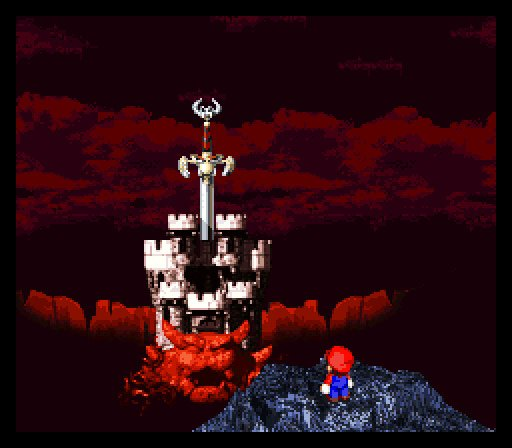Mario at Bowser's Castle