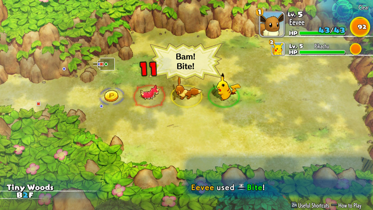 auto attack feature mystery dungeon