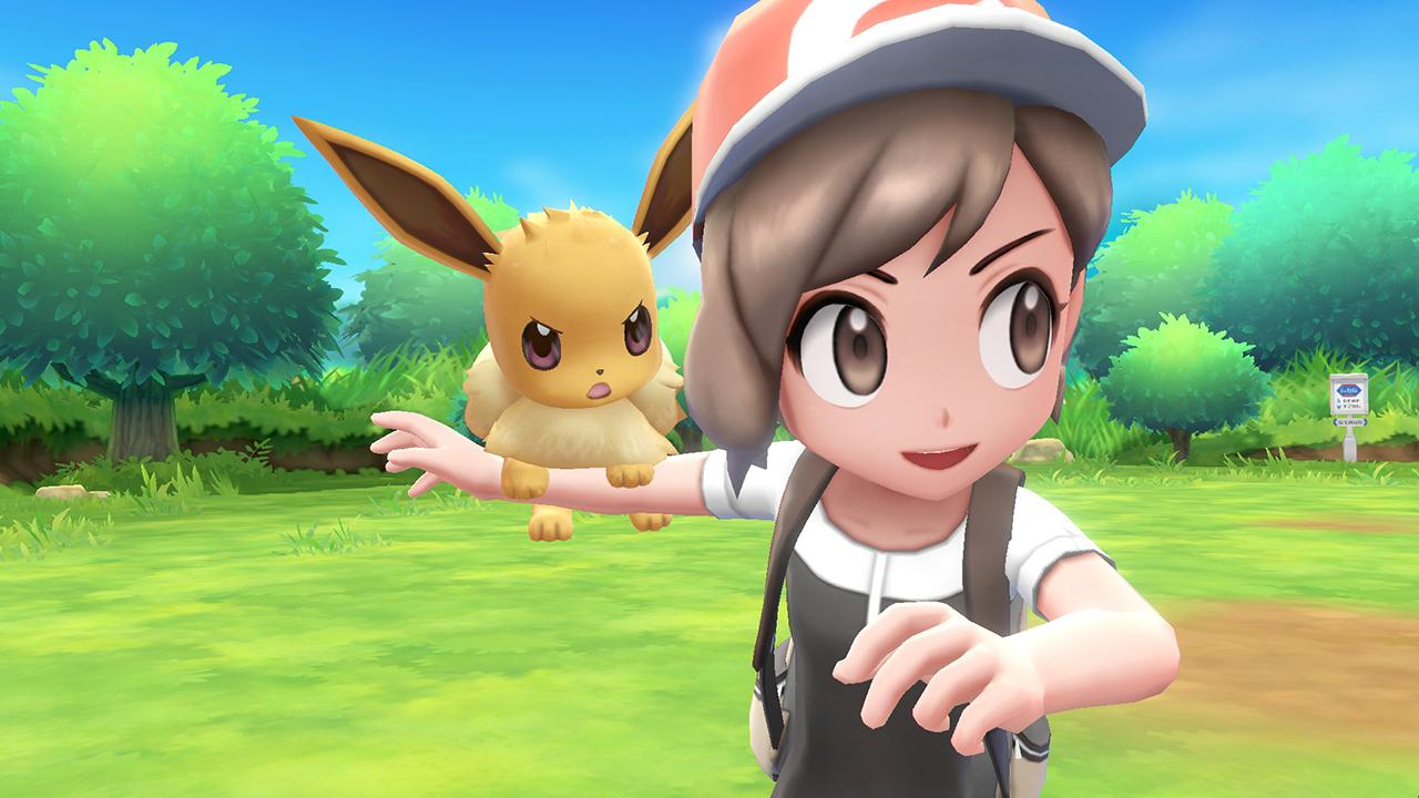 Befriend tons of cute critters Pokemon Let's Go EeveePikachu