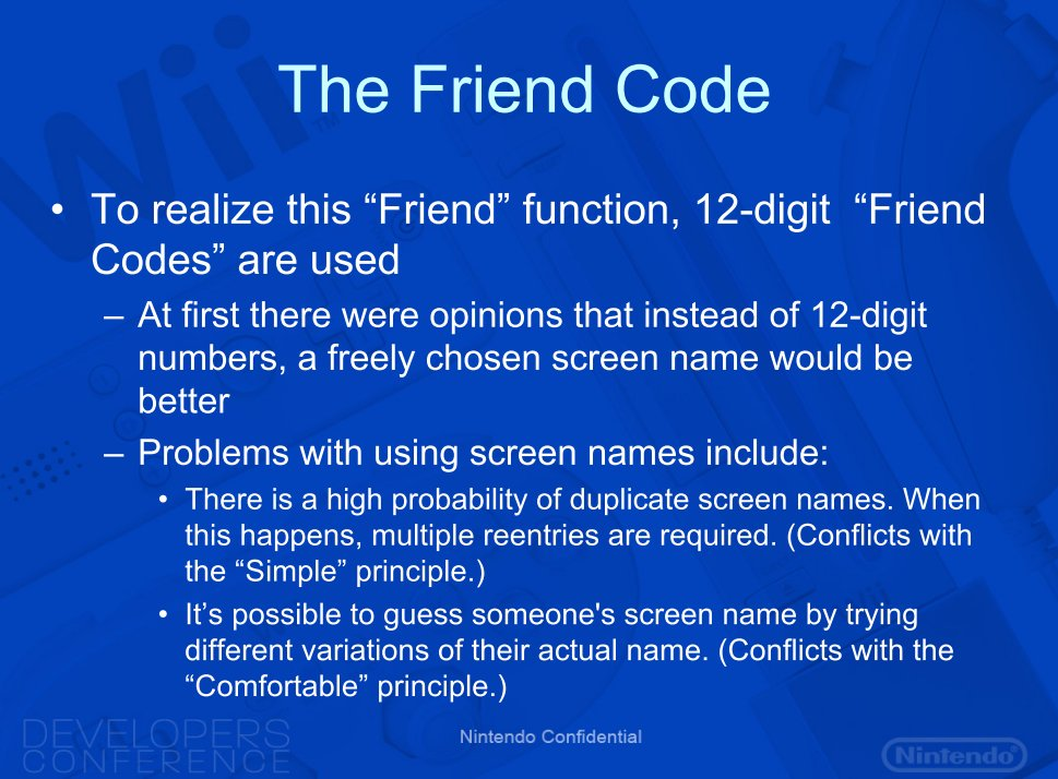 nintendo wii friend code leak